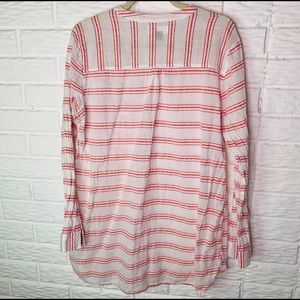 Old Navy Tops - Old Navy Size XL Coral Striped Tunic